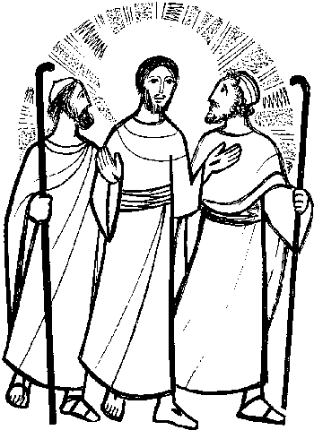 f12000d6bb28b9556b19bb3896add406_stationsresurrection4-road-to-emmaus-clip-art_350-480