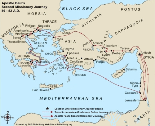 paul-second-missionary-journey-map